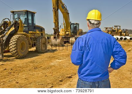 Construction Worker With Equipment