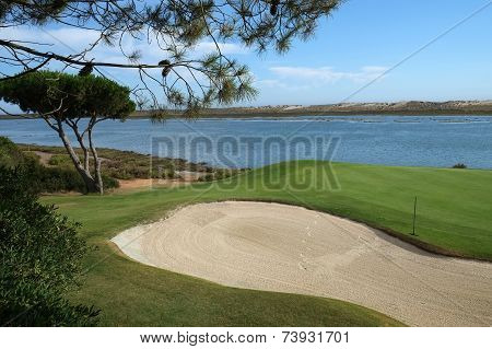 Overview of a Golf course and river