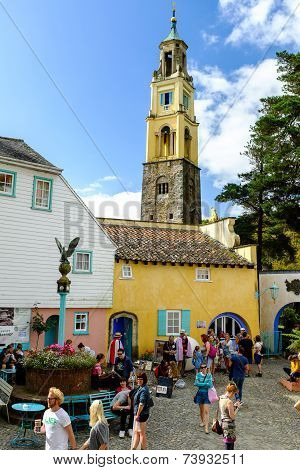 The Campanile and town square, Portmeirion