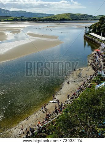 Paddle boarding, Portmeirion