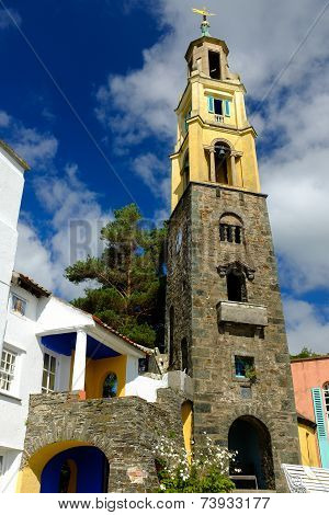 The Campanile bell-tower, Portmeirion
