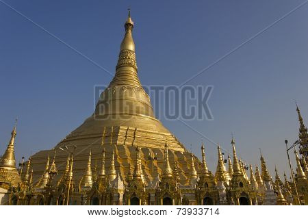 The Shwedagon Pagoda, Also Known As The Great Dagon Pagoda And The Golden Pagoda, Is A Gilded Pagoda