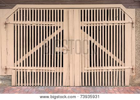 Light brown gate