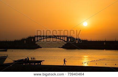 Sunset in Montaza , Alexandria , Egypt