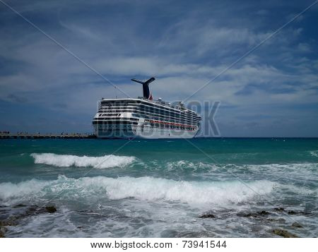 Carnival Conquest at Costa Maya, Mexico