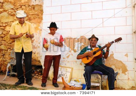 Street Muscians In Trinidad, Cuba. Taken In Oct 2008