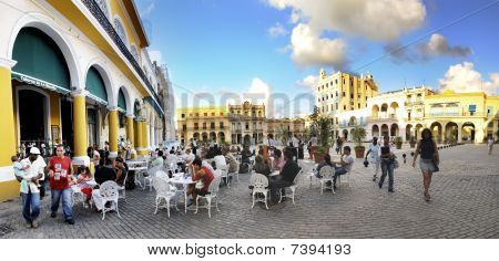 Havana Outdoor Cafe Panorama, November 2008