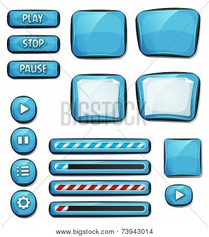 Cartoon Diamonds Elements For Ui Game