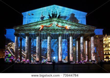 The Bolshoi Theatre During The International Festival Circle Of Light
