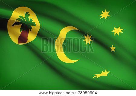 Flag Blowing In The Wind Series - Cocos (keeling) Islands
