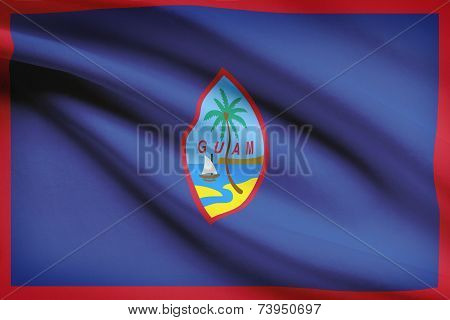 Flag Blowing In The Wind Series - Guam