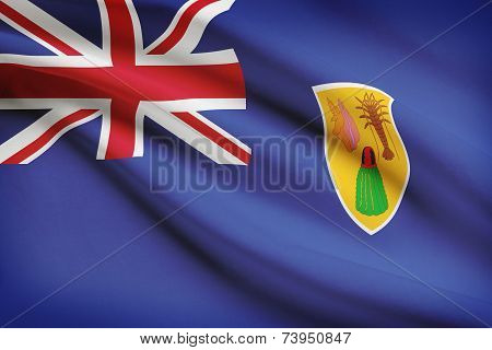 Flag Blowing In The Wind Series - Turks And Caicos Islands