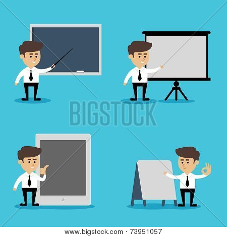 Businessman presentation set