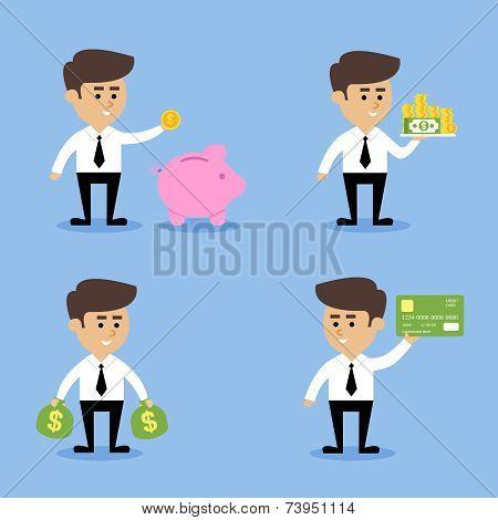 Businessman financial concepts