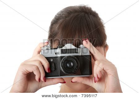 Pretty Girl Making Photo