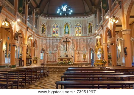 Interior View Of A Cathedral Of The Immaculate Conception