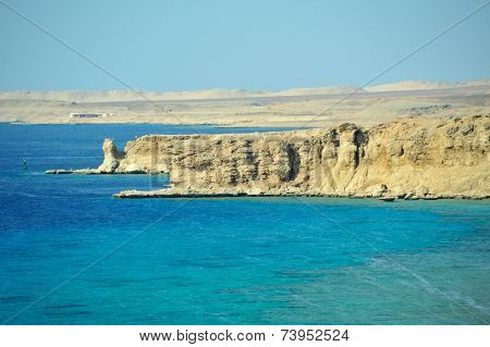 Red Sea  coastline in  Sinai, Egypt
