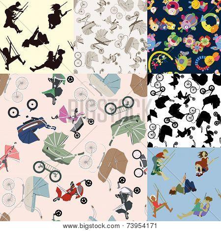 Set Of Children's Backgrounds.