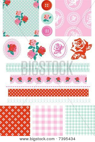 Vector Rose Elements