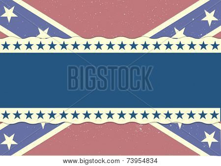 detailed illustration of a grungy patriotic confederate flag, eps 10 vector