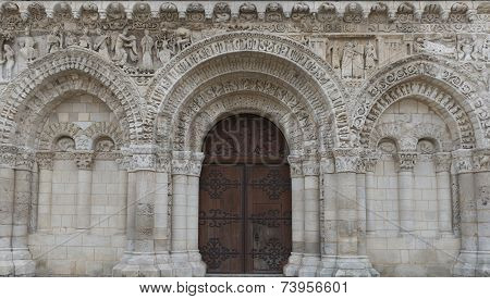 Door Of Church Poitiers
