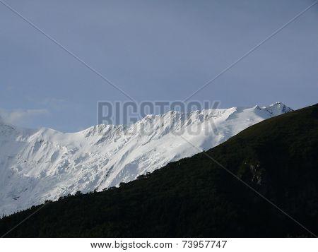White Annapurna Iv Peak In The Morning