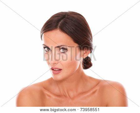 Young Hispanic Female Looking At Camera