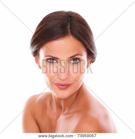 Charming Adult Woman Looking At Camera