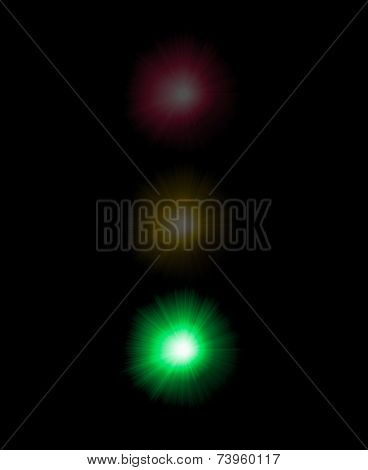 Abstract semaphore illustration with green color