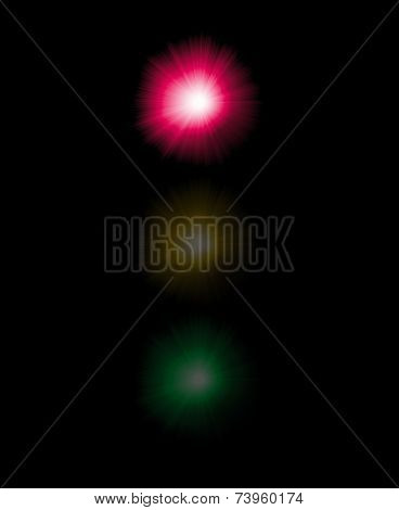 Abstract semaphore illustration with red color