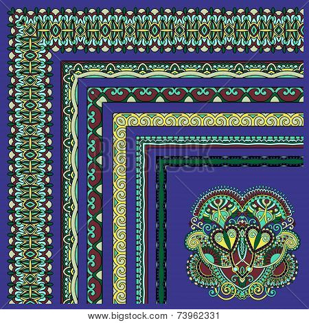 collection of ornamental floral vintage frame design. All compon