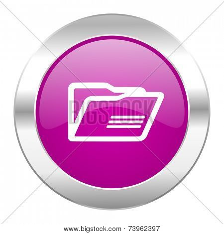 folder violet circle chrome web icon isolated