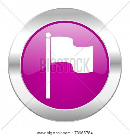 flag violet circle chrome web icon isolated