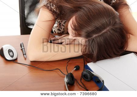 Sleeping In Call Center