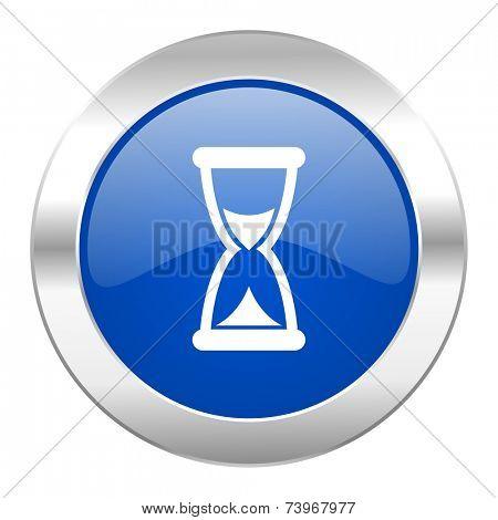 time blue circle chrome web icon isolated