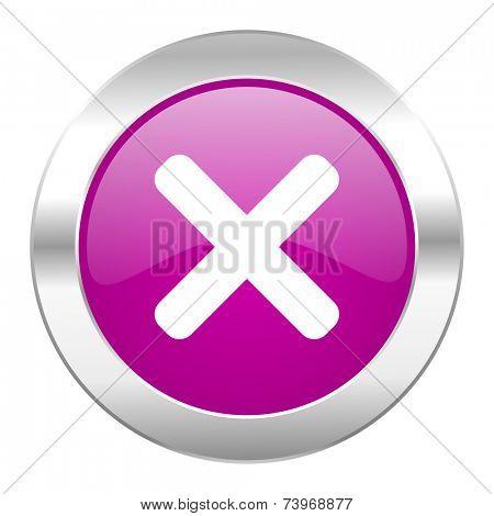 cancel violet circle chrome web icon isolated