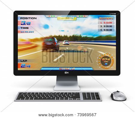 Gaming desktop computer