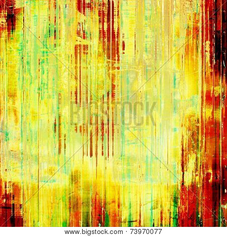 Rough vintage texture. With yellow, red, orange, green patterns