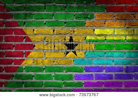 Dark Brick Wall - Lgbt Rights - Sao Tome