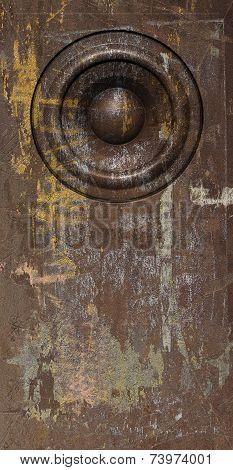 3D Render Grunge Brown Old Speaker Sound System