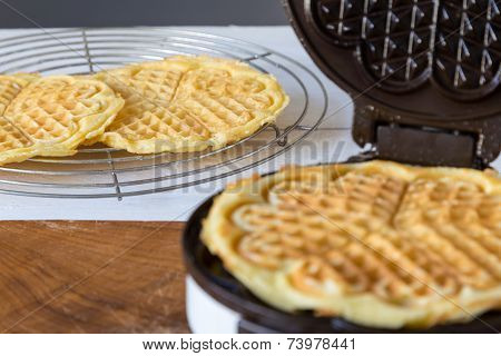 Waffle Makers In Operation
