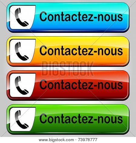 Vector Contact Buttons