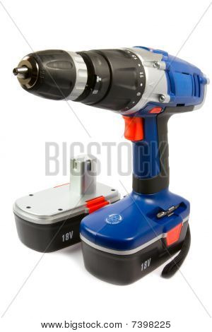 Cordless Hammer Drill And Spare Battery