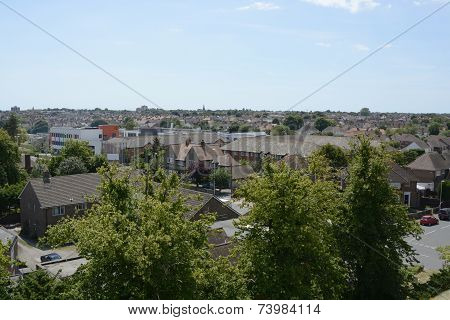 Rooftop View Of Worthing. England