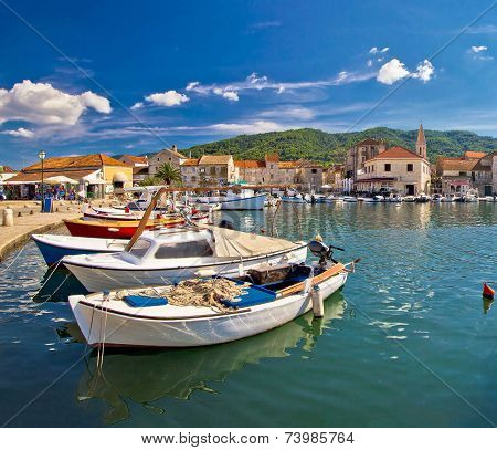 Colorful Stari Grad On Hvar Island
