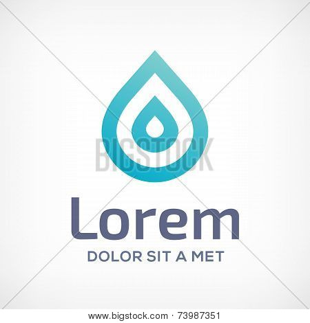 Water Drop Symbol Logo Icon