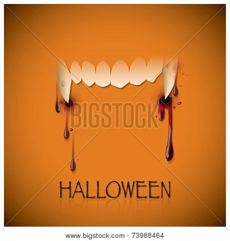 Halloween Festival Bite And Blood Background