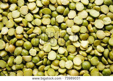 Background Of Dried Fresh Green Split Peas