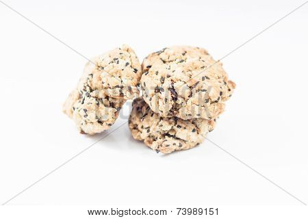 Mixed Nut Cookies Isolated On White Background