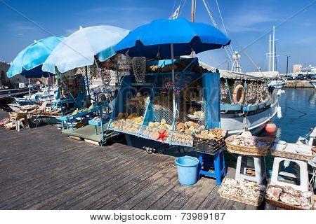 Wooden fishing boats in Greece